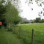 sentier de randonnée qui commence au pied du gîte