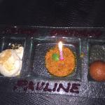 carrot pudding, gulabjamun and ice cream