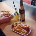 Currywurst and Chips~