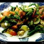 Scandinavian smoked salmon salad
