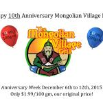 Happy Anniversary Mongolian Village