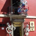 Huizache Entrance - decorated for Day of the Dead