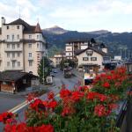 View from restaurant balcony - grindelward train station