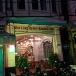 Kim Long Hotel entrance at night