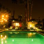 Enjoy a romantic evening by the pool