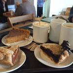 Pie and american coffee