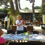 The courtyard is a delightufl place to dine