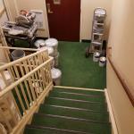 Blocked stairway exit