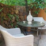 Private patio of Deluxe Suite
