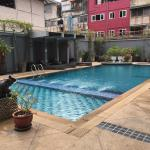 Swimming Pool at the back of the hotel (surrounding by old buildings)