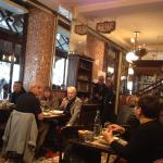 The cosy lunchtime ambience of Le Progres