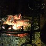 A roaring log fire to welcome you