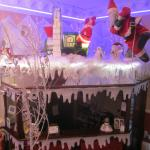 Reception area at Christmas