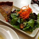 Quiche with Salad and Soup of the Day