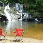 Cane Creek Falls where our Waterfall Cottage is located