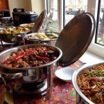 Buffet lunch spread