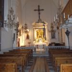 Inside the church right next door