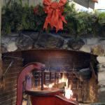 Cracker Barrel fireplace