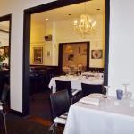 Interior decor of restaurant