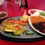 Veggie fajitas are very good and lots to eat