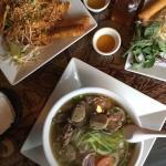 Chicken pad Thai & beef pho