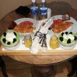 One of four delicious breakfasts served to us on our 4 day stay at this amazing bed and breakfas
