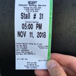 郵便局のパーキングチケット