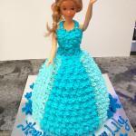 Cold Rock Ice Cream doll cake