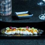 Halibut sashimi with yuzu sauce