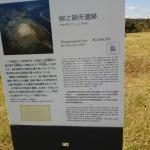 遺跡に設置されている看板