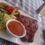 Aged T-Bone steak with parmesan and pepper souce (500g)