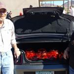 Owners of Peggy Sue's Diner participating in the Trunk & Treat event