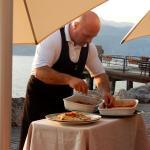 Chef Marco im Service