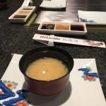 miso-soup and all little entrees