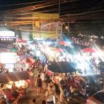 View from upstairs room of Saturday Walking Street