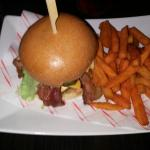 The red adair burger and sweet frys sooo nice loved new place food taste better than old place a