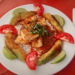 Akumal Fish with Crispy Panko Avocado