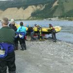 Getting the raft ready to return to the office