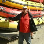 Here I am next to the rafts