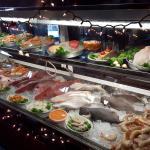 Fresh seafood on display