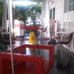 Frente del Hotel, Hamacas