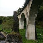 左側に石積みの橋脚が見えます