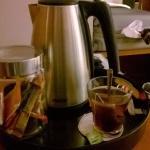 the machine & Nespresso in the room