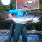 Former Vancouver Canuck and television host Brendan Morrison showing off a 33lb Spring Salmon ca