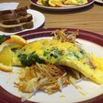 Florentine Omelet over Hash Browns