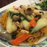 Pan Fried chicken chow meain - Hong Kon style