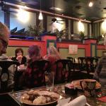 My husband (at far left) had the sirloin steak & mashed potatoes