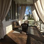 Veranda outside rooms