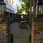 outdoor seating at cafe