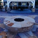 Hotel outdoor fire pit.